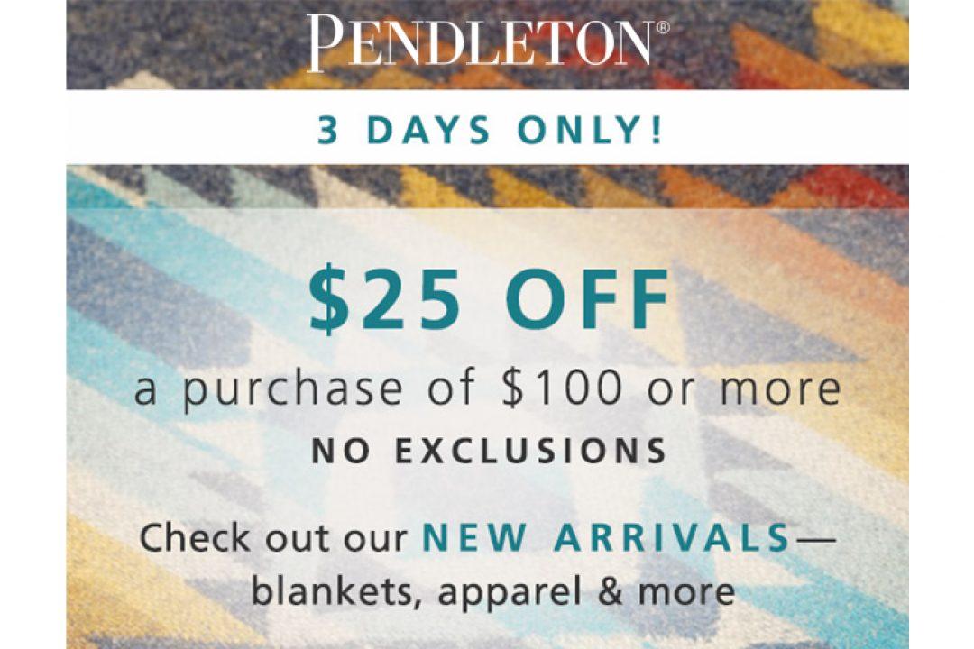 Pendleton Sale
